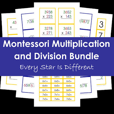 Montessori Multipliction and Division Bundle