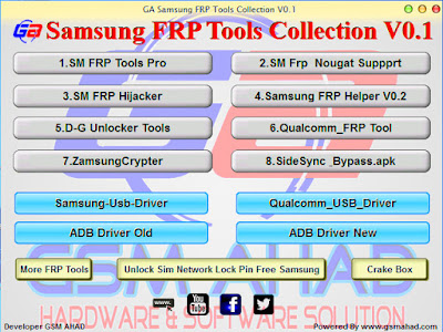 GA Samsung Best FRP Tools Collection V0.1 Free Download