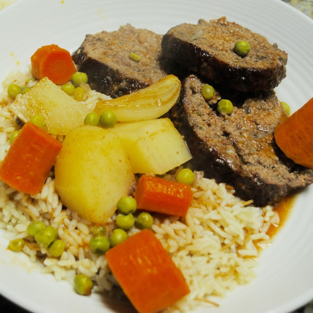 small potatoes peeled and cut into chunks LEBANESE-STYLE MEAT LOAF RECIPE