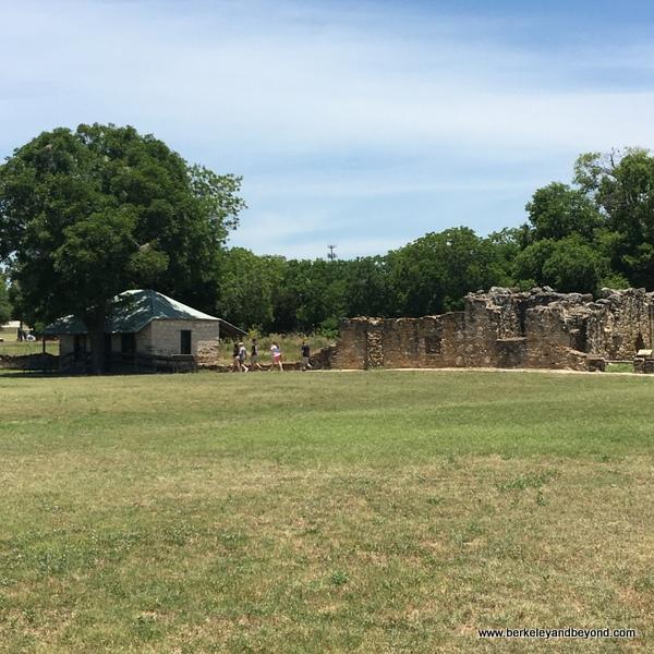 exterior expanse at Mission San Juan in San Antonio Missions National Historical Park in San Antonio, Texas