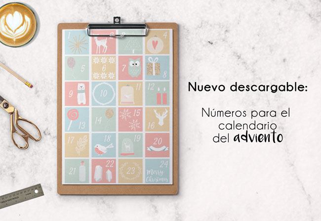 Calendario del adviento: descargable números gratuitos e ideas para los regalitos
