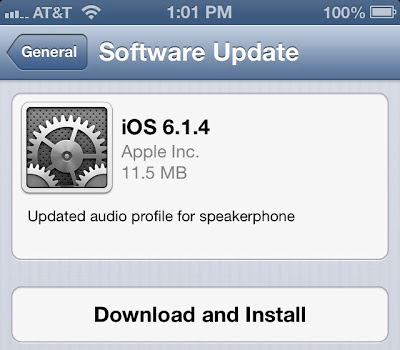 Apple iOS 6.1.4 Update