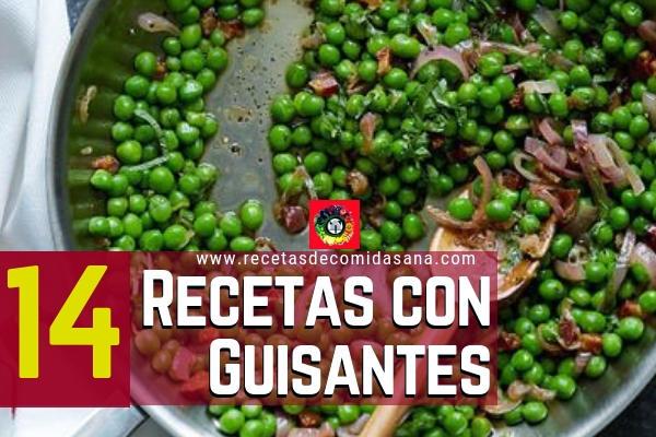 Estas son 14 recetas con guisantes o arvejas o chicharos de la gastronomía Española