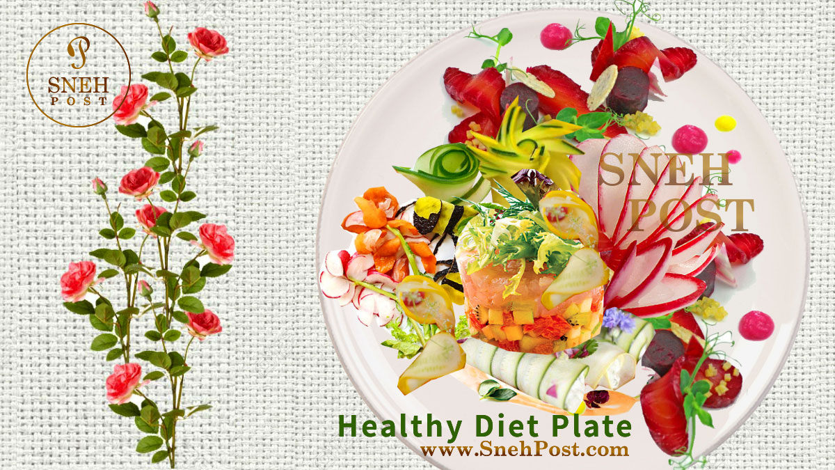 Ideally healthy diet chart and eating time with a colorful balanced food plate image by Sneh Post