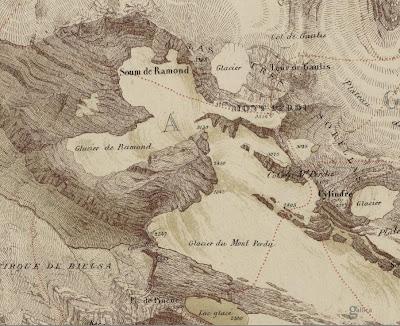 Mapa antiguo del monte perdido