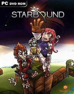 غلاف لعبة Starbound رحلة بطولية وانقاد العالم