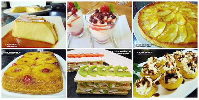 Postres y dulces con fruta