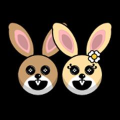 Hunny Bunnys Stickers - Rabbit Emoji