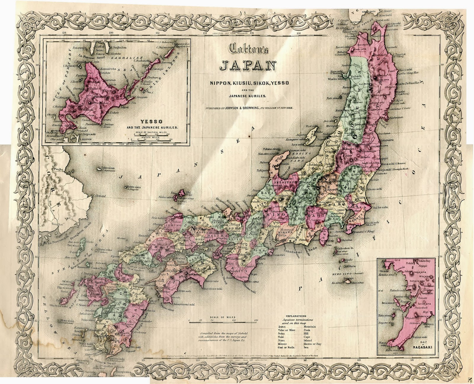 Map Of Japan 1600.Japan It S A Wonderful Rife 1853 Map Of Japan