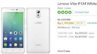 Lenovo Vibe P1m turun harga