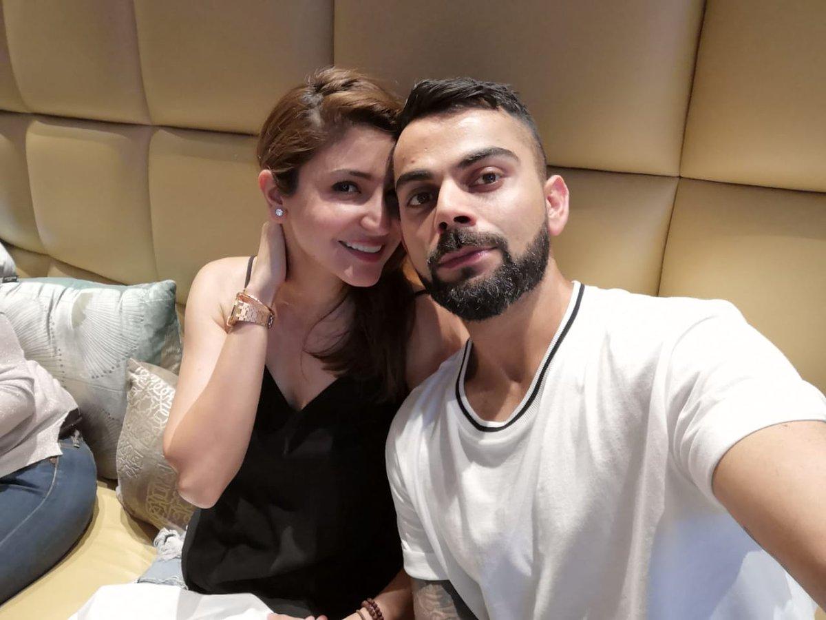 Anushka Sharma and Virat Kohli at Delhi cafe