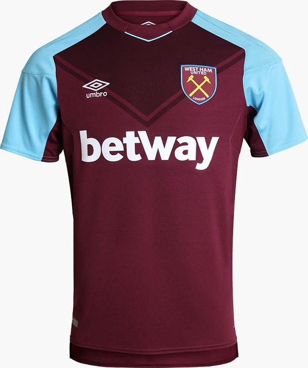 9bfff2f98c8a6 Umbro lança a nova camisa titular do West Ham United - Show de Camisas