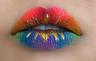 Pride makeup, rainbow lips, lip art, disney inspired lips, creative lip art, Halloween makeup, fantasy makeup, makeup, makeup artist, red alice rao, beauty, beauty blogger, beauty blog, makeup blog, top beauty blog in pakistan, top makeup artist in pakistan