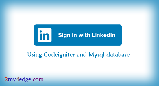 linkedin login in php codeigniter framework
