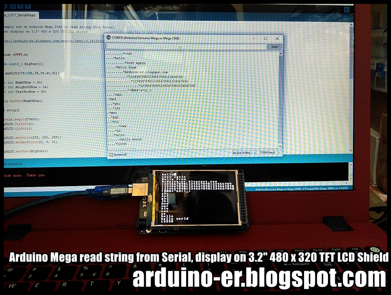 Arduino er mega read string from serial display