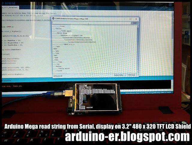 Arduino er mega read string from serial display