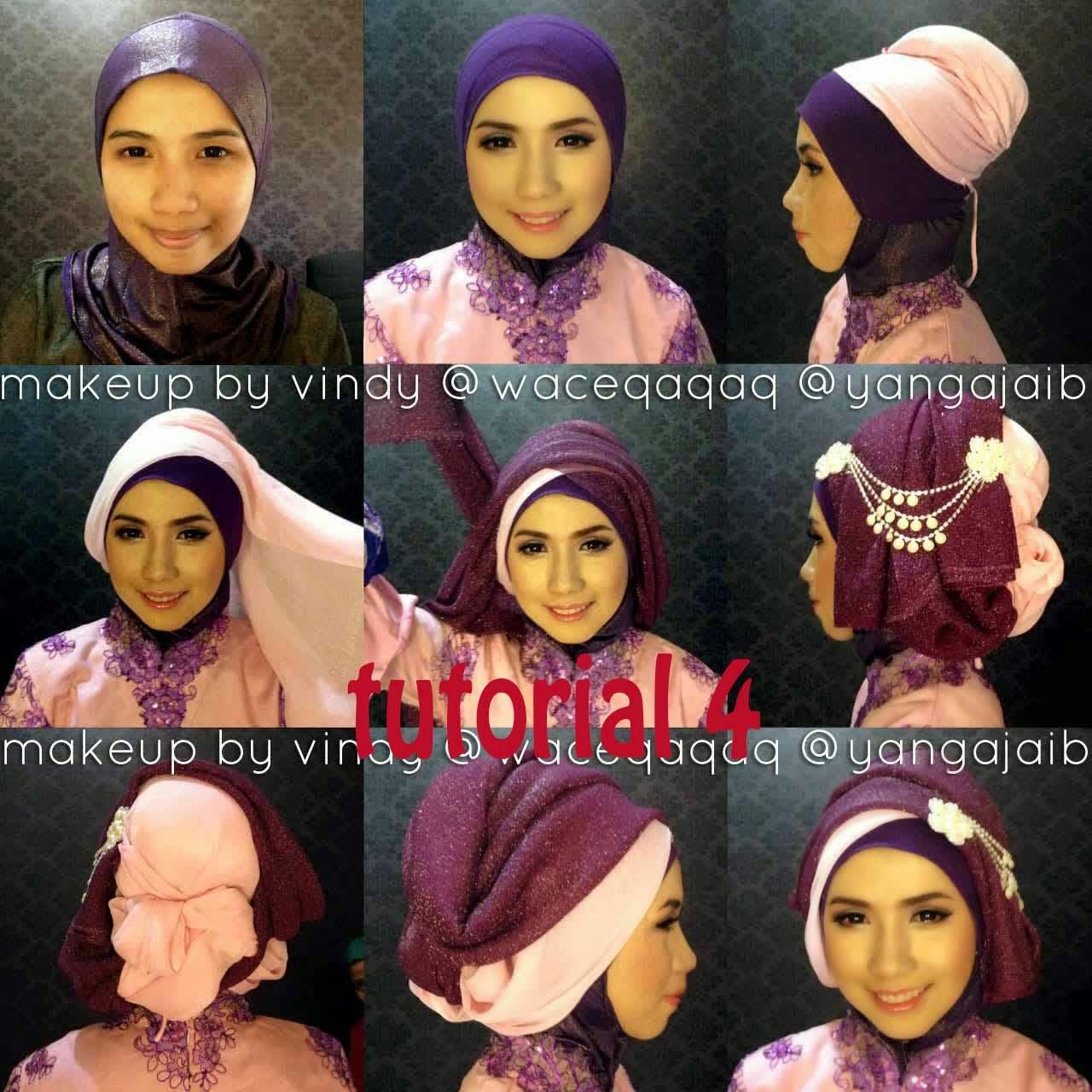 Gambar Tutorial Hijab Segi Empat Simple Untuk Wajah Bulat  Tutorial Hijab