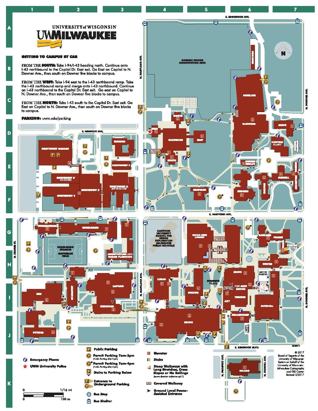 university of wisconsin milwaukee campus map Milwaukee S Treasure Hunt Maps Of Uwm Mitchell Hall