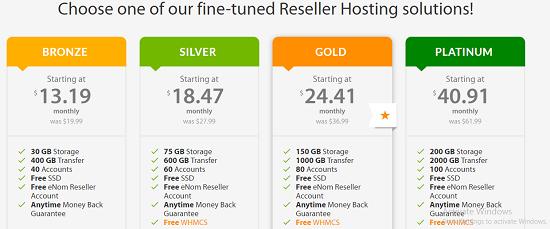 Reseller hosting.A2 hosting