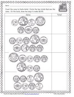 homeschool parent free counting coin worksheets. Black Bedroom Furniture Sets. Home Design Ideas