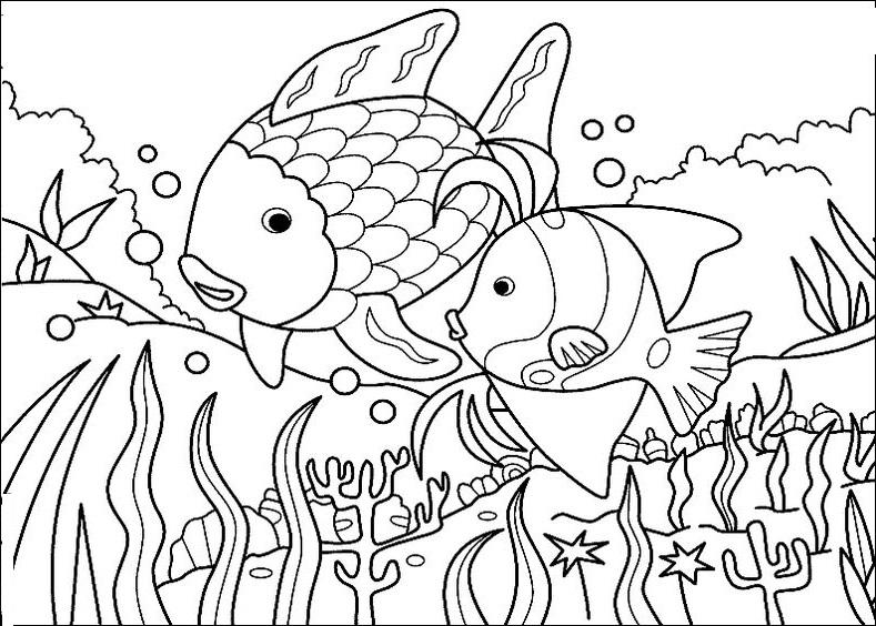 Tranh tô màu con cá 8