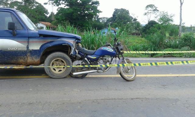 Acidente violento na BR 364 entre Jaru e Ouro Preto mata motociclista