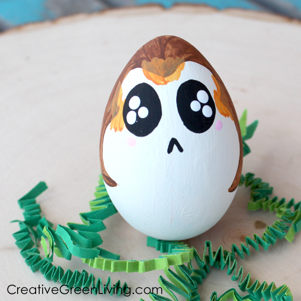 Kawaii porg craft - how to paint a porg
