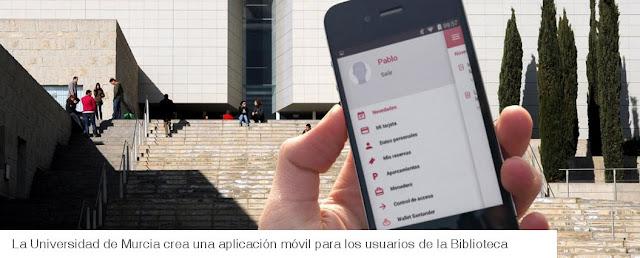 La Universidad de Murcia crea una aplicación móvil para los usuarios de la Biblioteca.