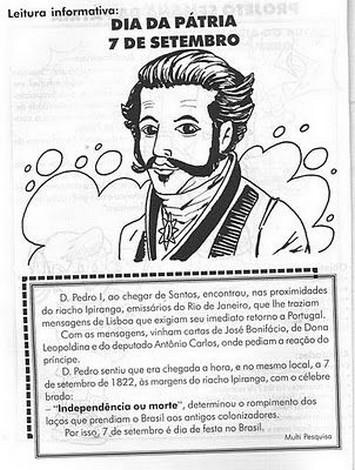 Blog Professor Zezinho Atividades Da Independencia Do Brasil 7