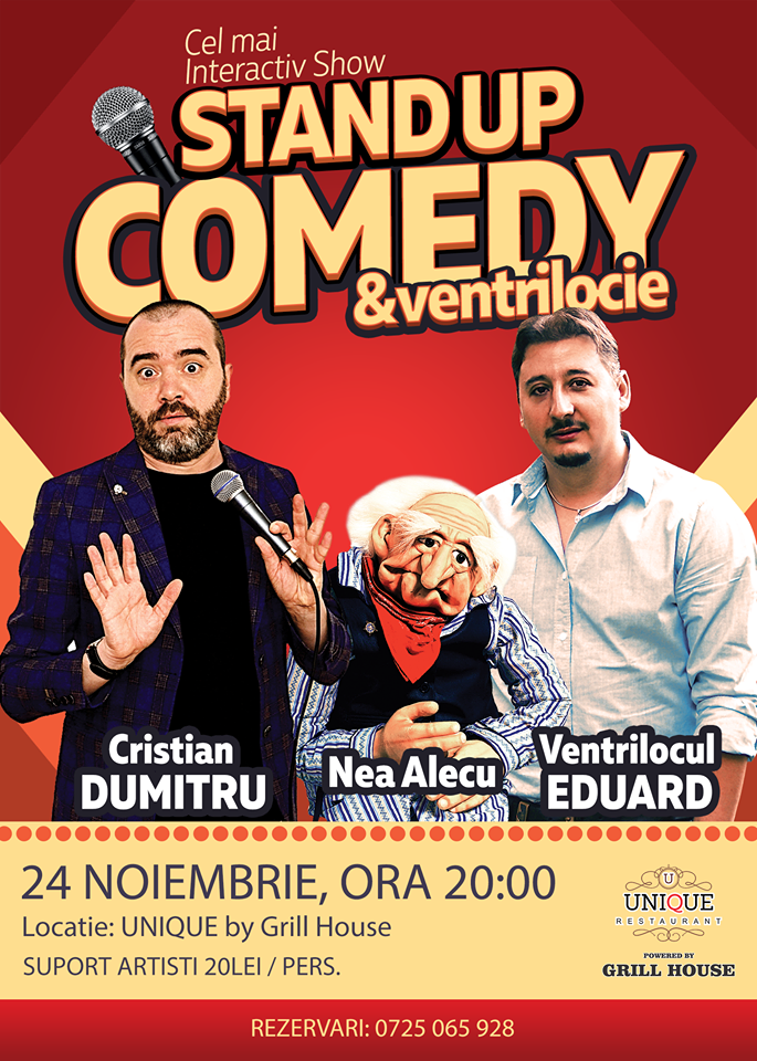 Stand-Up Comedy Constanta Vineri 24 Noiembrie 2017