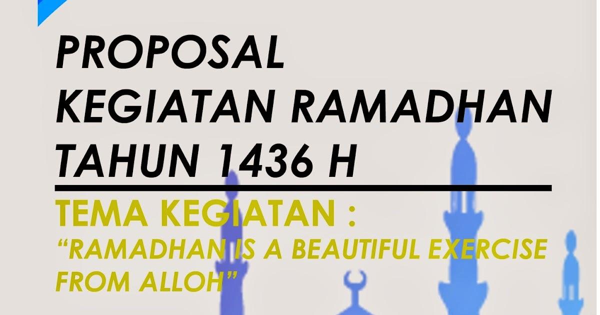 Format Blog Proposal Kegiatan Ramadhan 1436 H