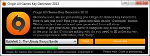 Hacks Games 2013 For You Générateur De Clé Origin