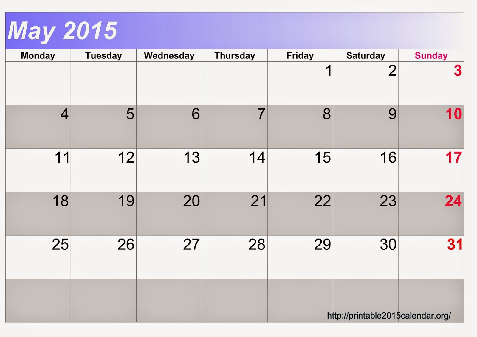 Free Printable Calendar 2018: Free Printable Calendar May