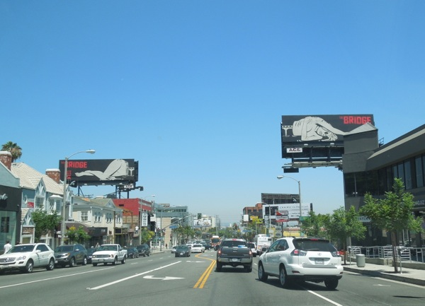 The Bridge series premiere billboards