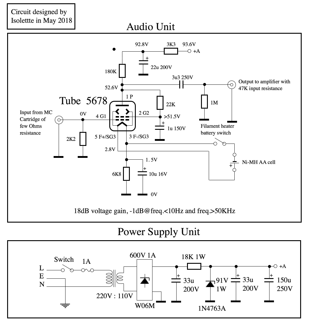 1st Build A Transistor Mc Head Amplifier Diy Moving Coil Preamplifier Input From The Audio Channel And High Voltage Power Supply Unit Must Be Built Into Separated Metal Cases If Using Of One Case Is For Both Ac Then