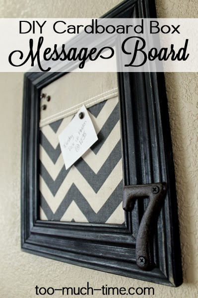 cardboard message board