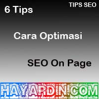 Cara Optimasi SEO On Page Pada Blog
