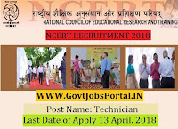 National Council of Educational Research & Training Recruitment 2018 – 35 Technician