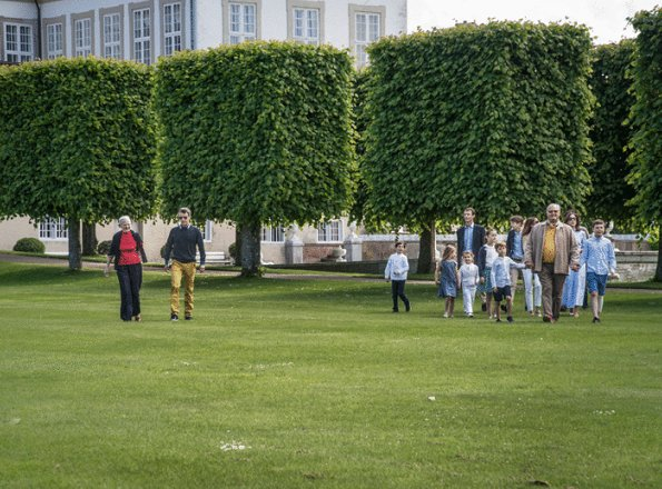 Crown Princess Mary, Prince Christian, Princess Isabella, Prince Vincent,Princess Josephine, Princess Marie, Princess Athena, Princess Benedikte, Princess Elisabeth