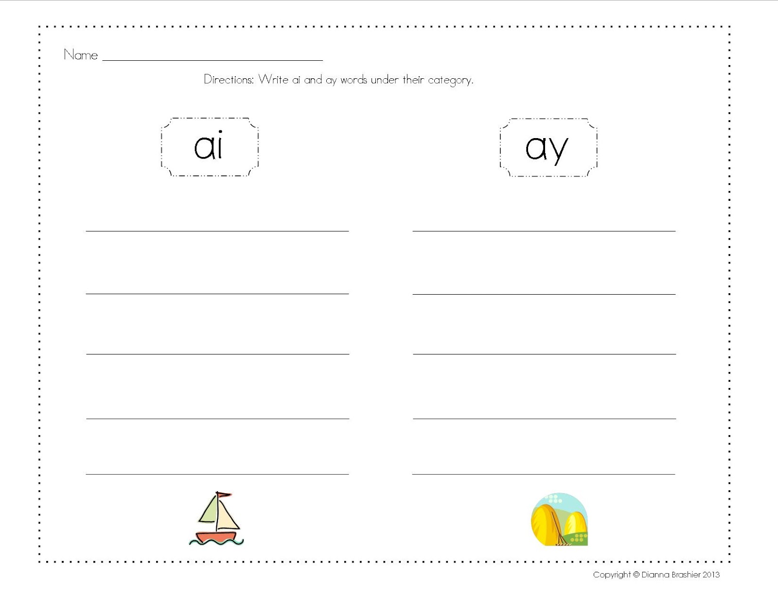 Ai Ay Worksheets Worksheets Tutsstar Thousands Of Printable Activities