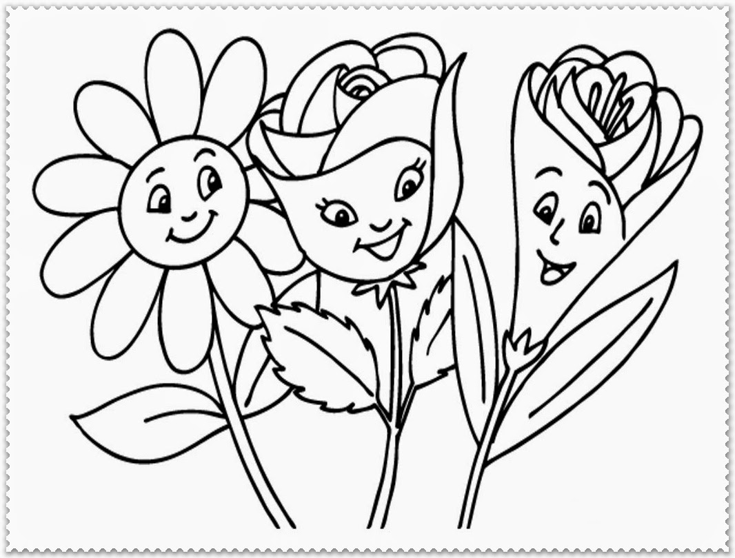 Coloring Book Spring Flowers