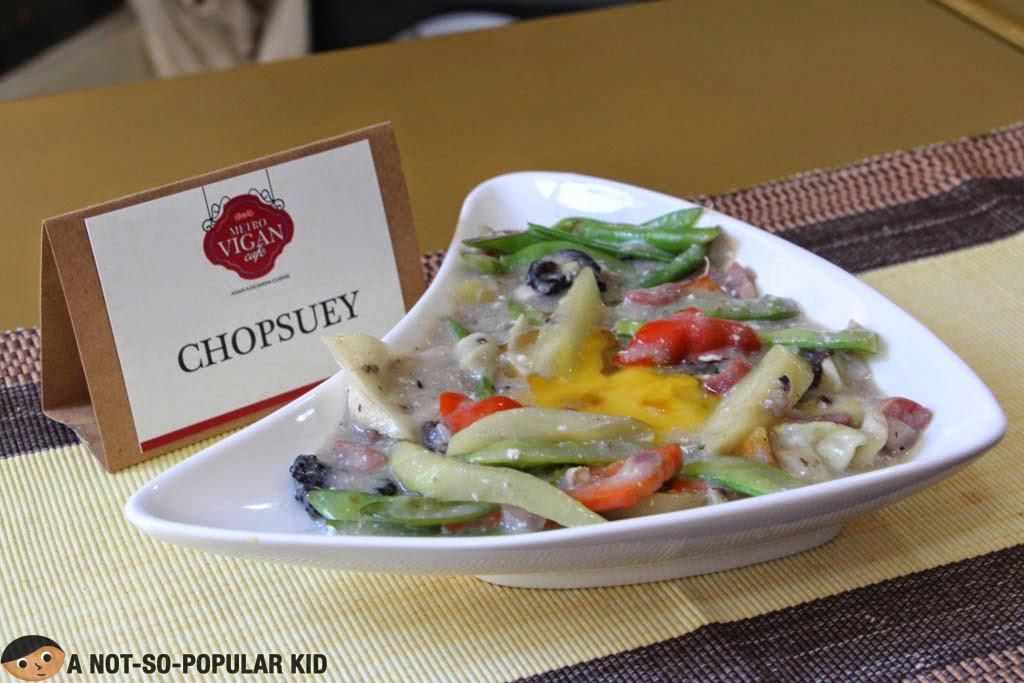 Metro Vigan Cafe's own take of the Chopsuey Vegetable Dish
