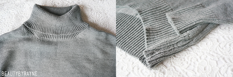 Romwe Turtleneck High Low Grey Sweater review