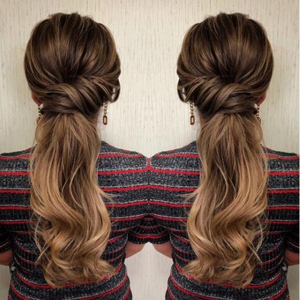 rabo de cavalo baixo ponytail