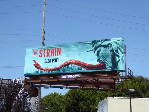 Strain season 3 Statue of Liberty tongue billboard