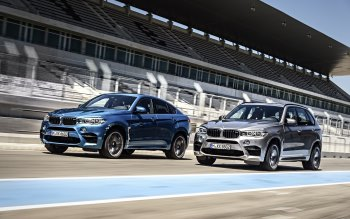 Wallpaper: BMW X5 M and BMW X6 M