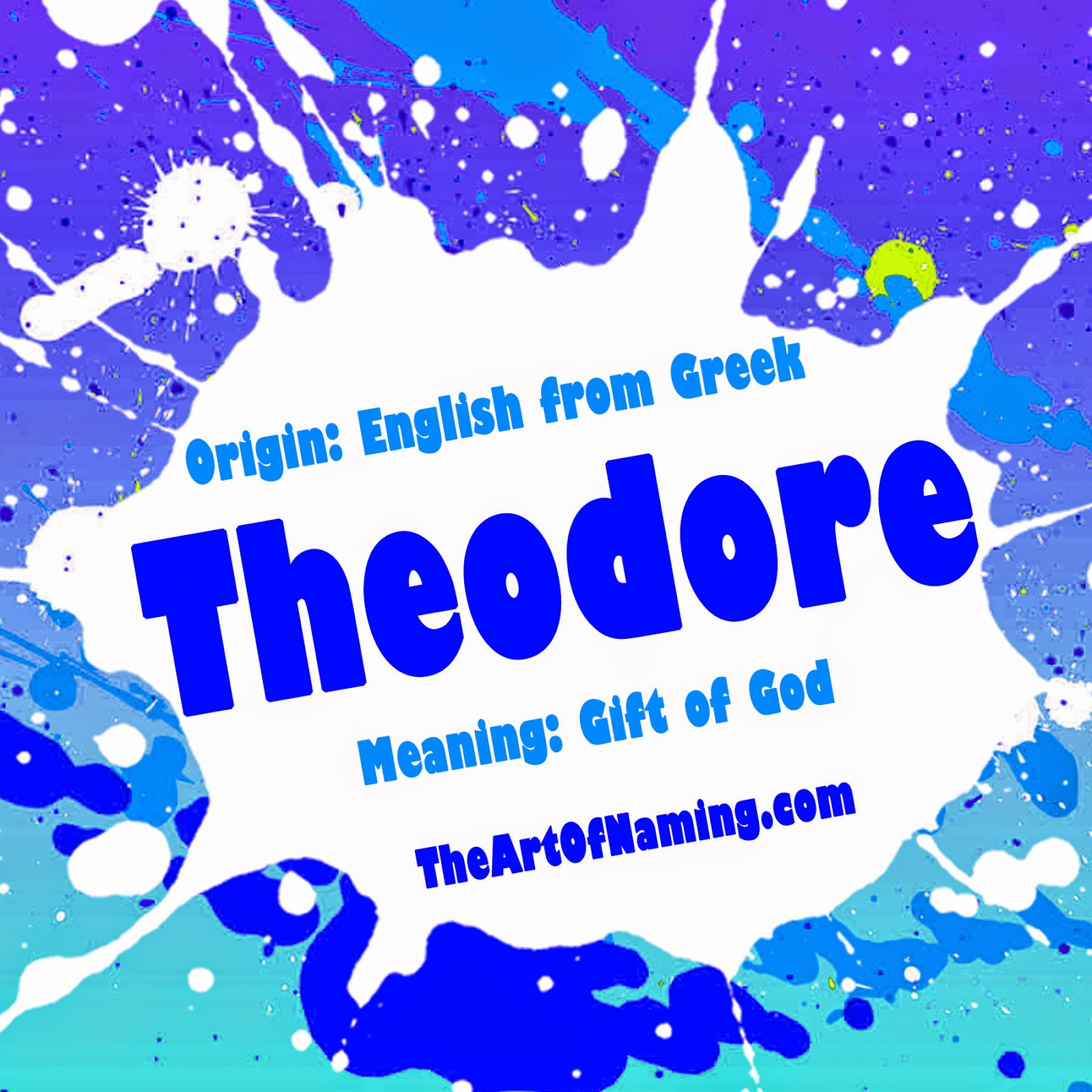 The Art of Naming: Theodore