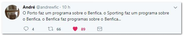 No Benfica só dá Benfica