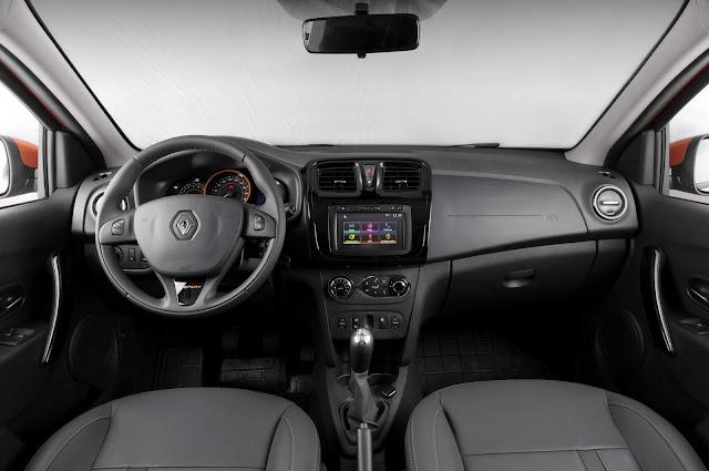 Novo Renault Sandero 2017 1.6 Stepway - interior
