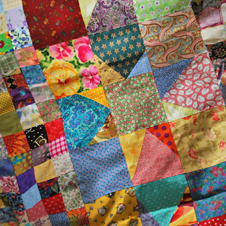 Wonky Stars in Postage Stamp Quilt: QuiltBee